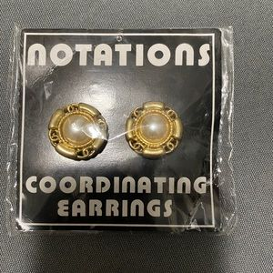 COPY - NWT Vintage Notations Clip on Earrings